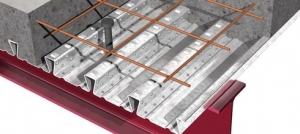 MetFloor 55 Steel Decking for composite metal and concrete flooring